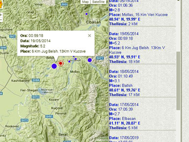Earthquake shakes up to 5.2 on the Rihter scale