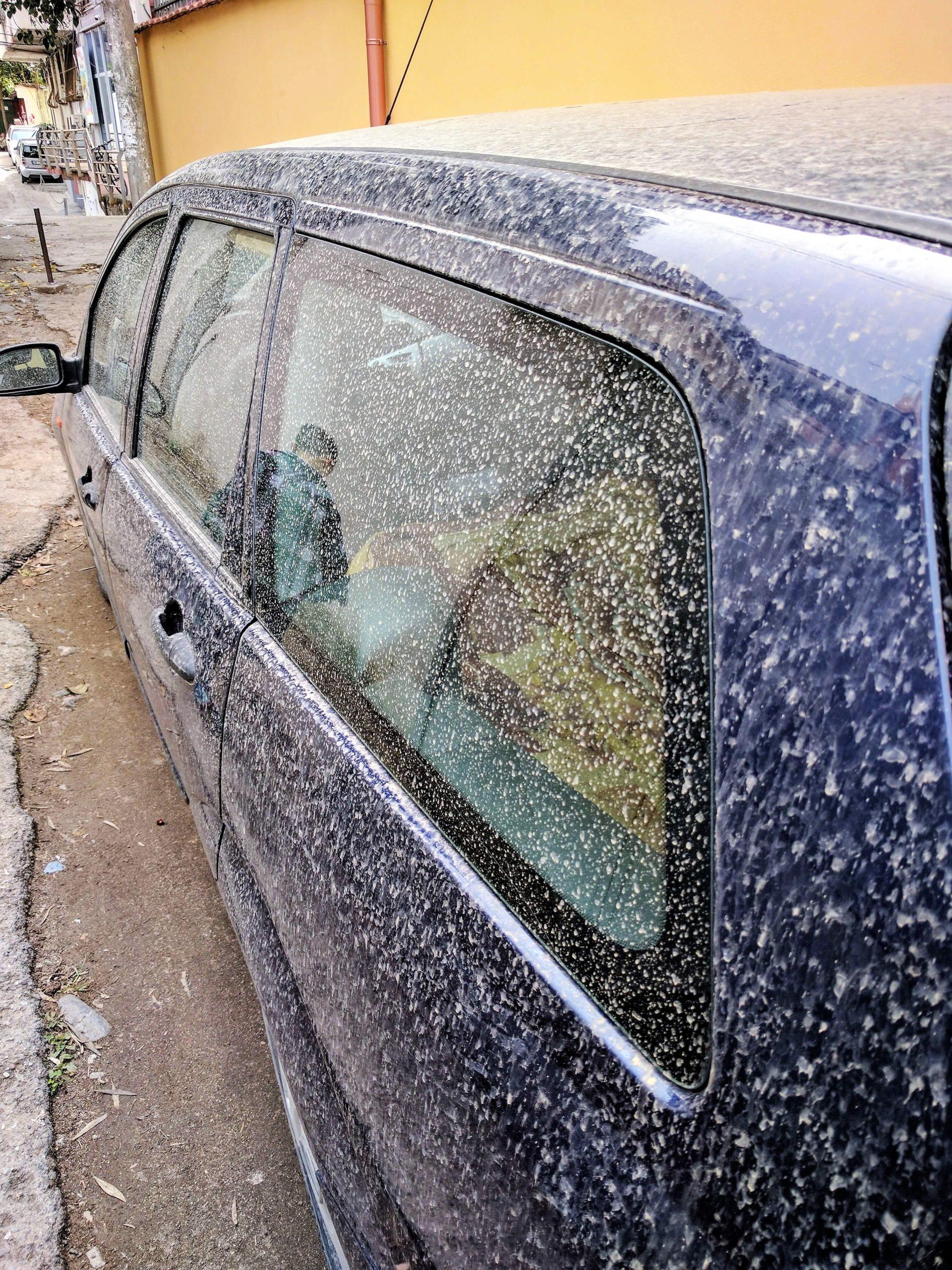 Dirty car in Tirana