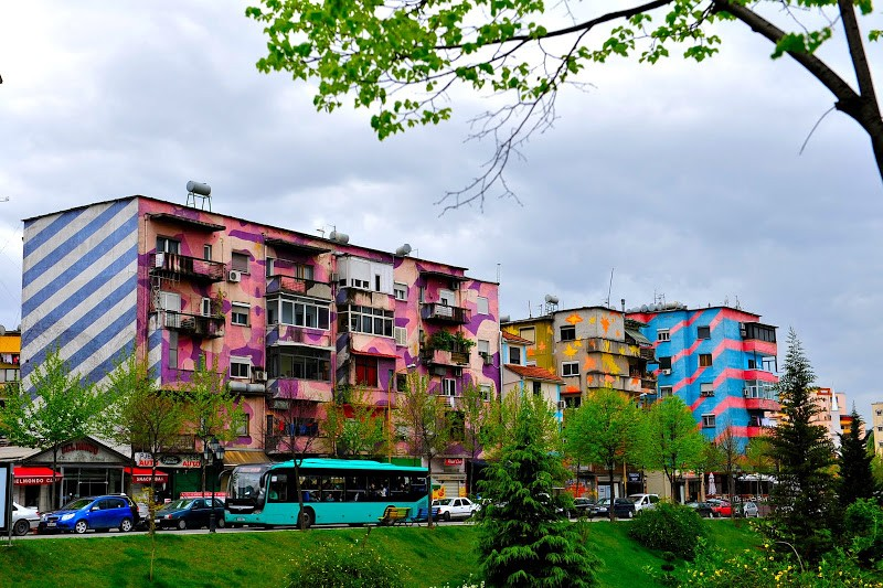 Photo of colorful TIrana by Merlin and Rebecca Blog